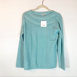 Croft & Borrow teal sweater